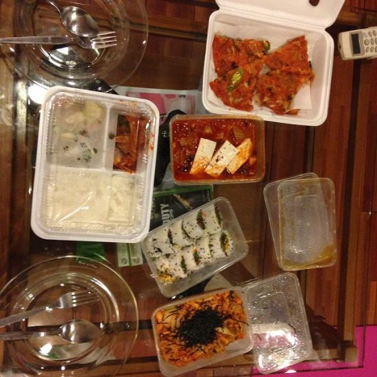 Korean food party with @armyxxl at home
