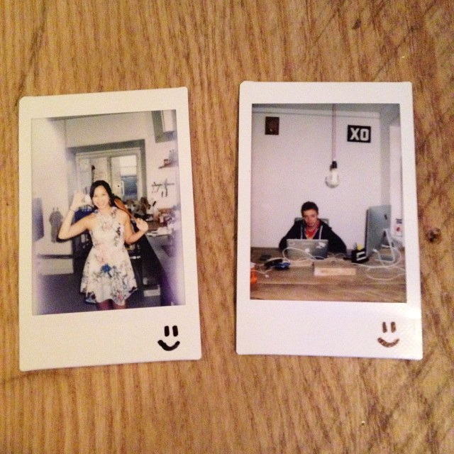 Fun polaroid camera... Thanks for lending me your camera. @lubpuivw