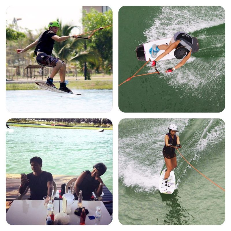 A wakeboarding look back, our usual Saturday 😃😀🏄💜💪🏻 @armyxxl @jibjingjing @pyesamet