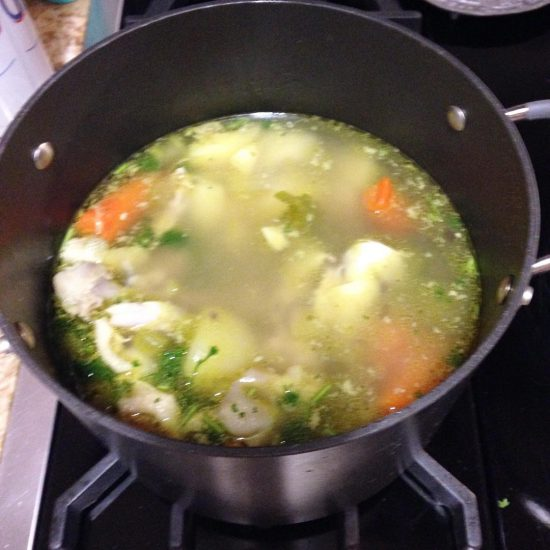 I made Polish chicken soup.
