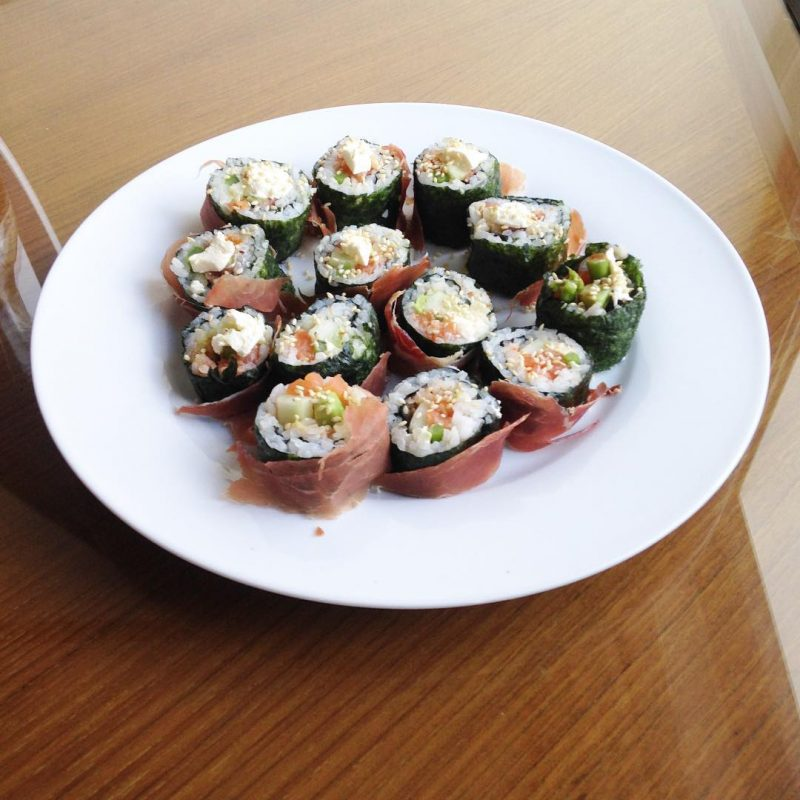 Yay I finally made Parma sushi roll