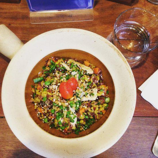 Bake chicken rice berry #serebiifoodjournal #healtyfood #islandlife 🌴