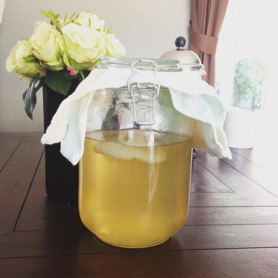 Jun (kombucha with honey 🍯) Day 1 #serebiifoodjournal #healthylifestyle #islandlife 🌴😍😘