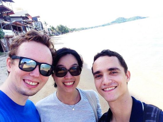 We made it! Threw back, this is our picture of the first day we moved to the island called Samui in the South of Thailand. There are main reasons that we moved here  1. Happiness  2. Summer lifestyle (beach, sand, sun, water sports we love ) 3. Fresh air  4. Healthier lifestyle . . #samui