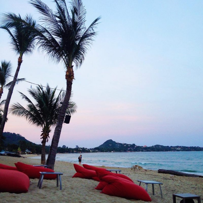Enjoying the sundown at @samuipotatobeachclub