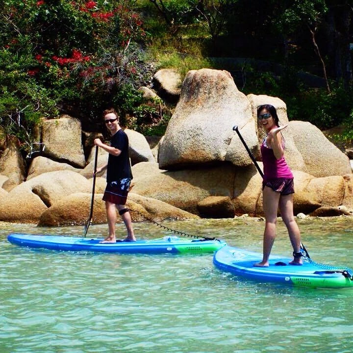 Yesterday #SUP with @isupsamui was really fun. Thank you, Ian.