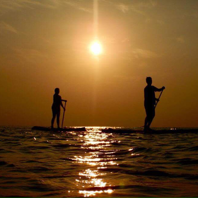 Throw back last Wednesday SUP in Taling Nam .. it was an amazing sunset.