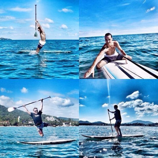 Markus and Maxim had a lot of fun on SUP yesterday. 📸 @555moni555