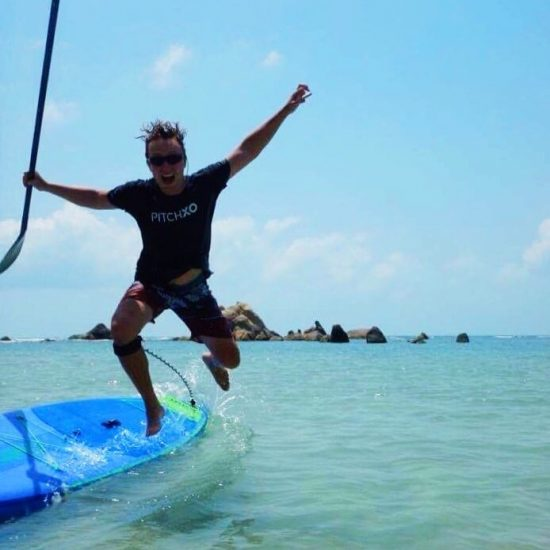 When you feel hot on the SUP, just jump into the water!