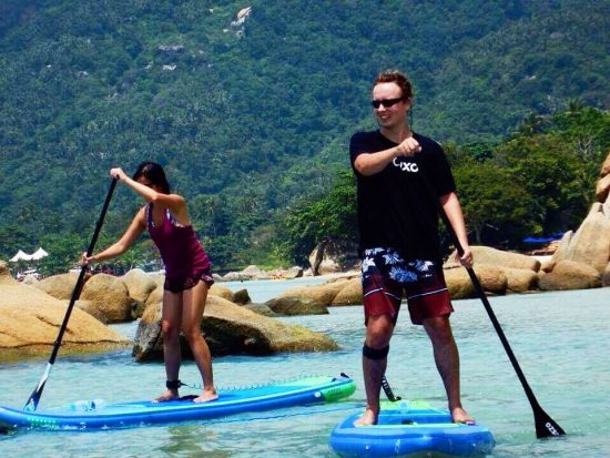 Me and Markus on the SUP