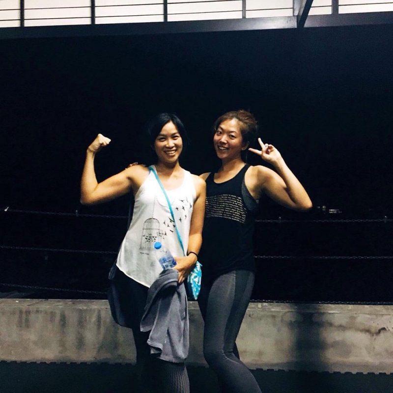 It was fun at cardio kickboxing class today.