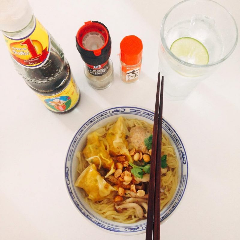 Homemade Chinese wonton noodles soup 🍜