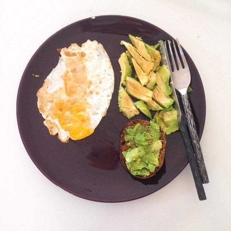 Good morning ☀️ 🌞 we made breakfast 🍳, avocado 🥑, dark 🍞