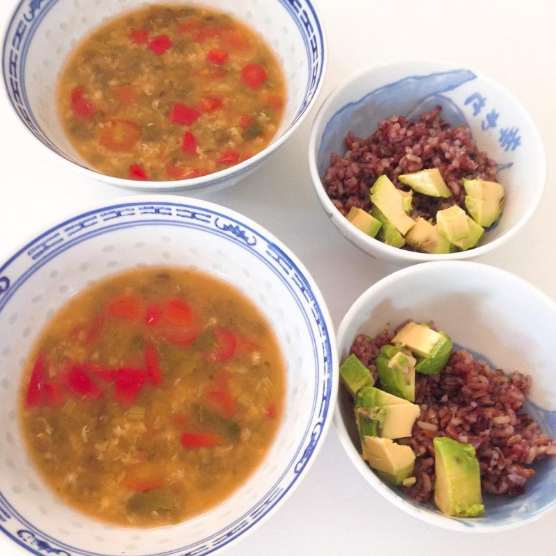 Since you have a lot of beans and avocado 🥑 🥑 🥑 at home, I made Mexican bean soup. we had it with rice and fresh avocado. 🍅🍅🍅🌶🌶🌶🥑🥑🥑#healthy
