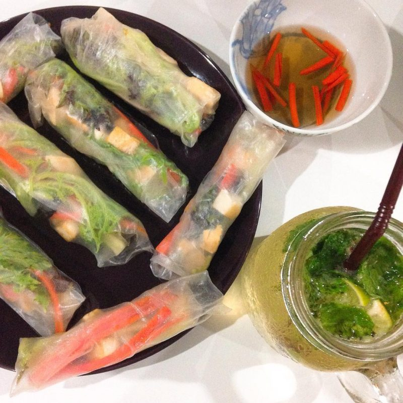 Homemade veggies & tofu fresh rolls