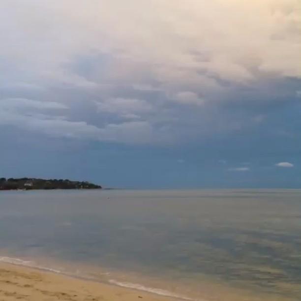 Enjoyed the beach after rain and yoga class