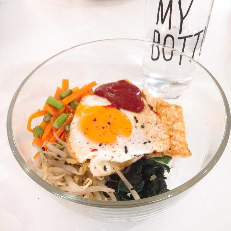 Home cooked meatless Bibimbap