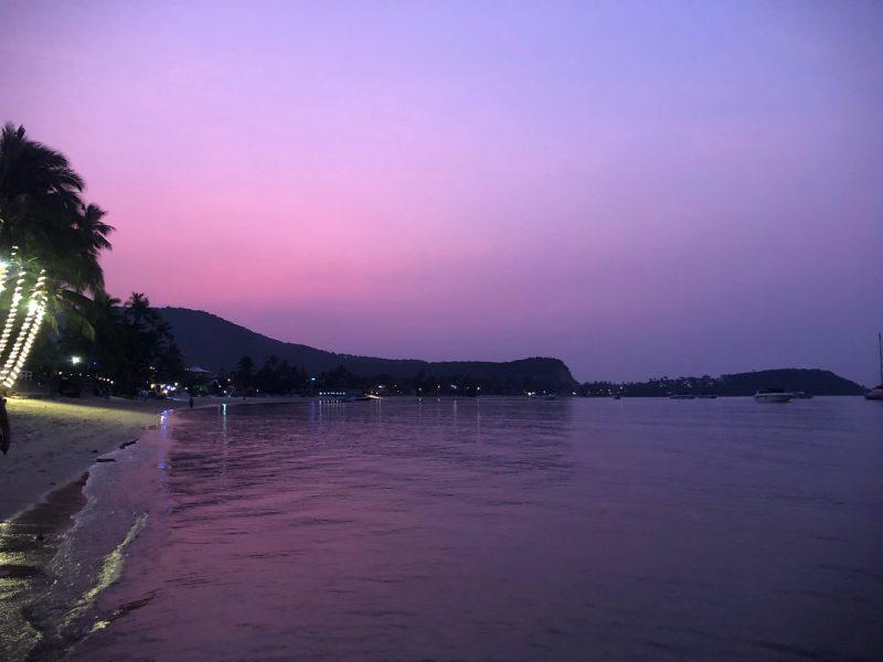 Pink sky after social SUP