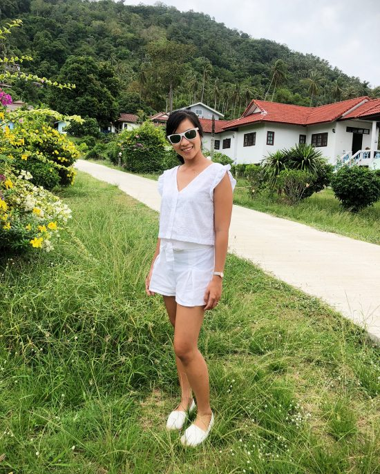 I launched my new Sofia top for my clothing line, inspired by French summer. It's available on taiwaree.com and @oh_mg_clothes_by_mam,Oh MG clothing, Bangrak pier