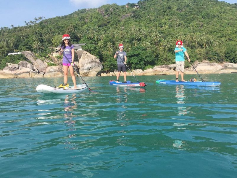 Yesterday morning paddle was amazing. Around 7-8km from Chaweng Noi to Silver Beach and back. It was the last social paddle this year with Tammy and Ian as they are leaving tonight. Paddle next year