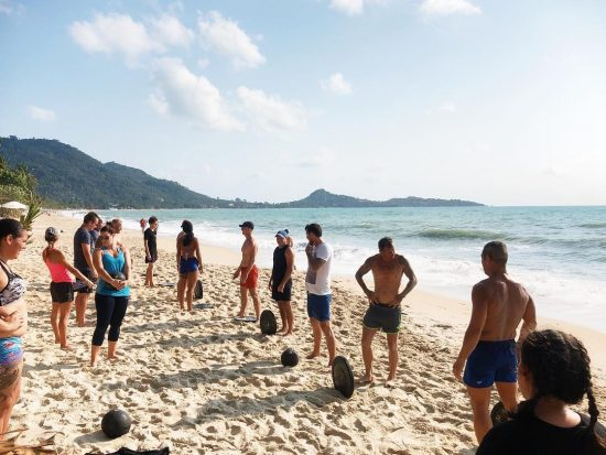 @lamaibeachcrossfit : Saturday Crossfit at Baobab Restaurant Lamai beach  Feb 16, 2019