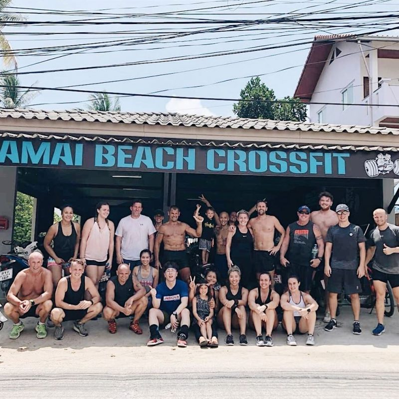 #repost Morning CrossFit class at Lamai Beach Crossfit. It was a big class today. I really enjoyed working out in the morning. Running is still hard for me. 🥵 🏃🏻‍♀️Of course, running is always a morning warm-up. WOD is called Fight Gone Bad. The name already made me nervous. Markus and I looked at each other and we were like Ohhhh. Haha  WOD: Fight Gone Bad x 4  Wall ball 🏀  Sumo kettlebell 🥋 Push press 🏋🏻‍♀️ Box Jump 📦 Air bike/row 🚲  today is still a Thai National holiday. But I still have to attend a machine learning class. I also have to work too. 😆 😆😆😆😆😆🥰🥰🥰🥰 #fitness