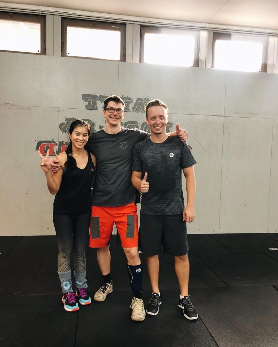 We had a good time training at Rodgau CrossFit yesterday. Everybody was friendly. The coach's name was also Mike like our coach at LBCF but the German spelling was Maik. When we arrived there, all members came to say hi to us. After finishing training, we all did 👋 high 5.  I like CrossFit culture in general. Markus had to translate everything into English for me in class except WOD on the board which were CrossFit vocabularies, something I'm familiar with. Next time I will speak German. Lol  Definitely coming back to train there when we are in Germany next time. Thank you to Mamuś for driving us there. Thank you for the class!  WOD April 24, 2019  Warm-up x 3 rounds 200 m run 20 single/double under  30s bar hang  Shoulder partner warmup (feel liking doing a Thai massage.) EMOM 20 mins  Snatch ( 3 heights )  Cindy AMRAP 20 mins 5 pull-up  10 push-up  15 air squats  Shoulder stretch  #fitness #crossfit  #getfitwithme #funworkout #stronggroup #workoutmotivation #workoutinspiration #goodvibes #crossfitgermany