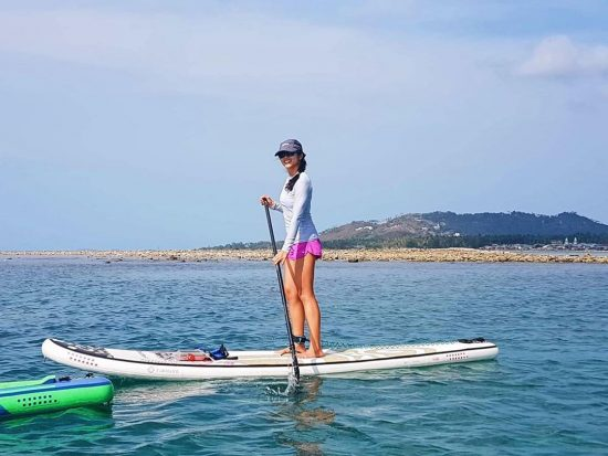 Saturday morning paddle 🏝🏖🌊 #perfectday #beachlife #islandlife #happyislanders #lifeisgreat #kohsamui #thailand #SUP #starboardSUP #standuppaddleboarding #paddleboard