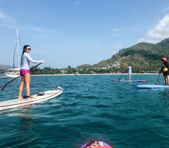 Throwback 2 weeks ago morning paddle 🏝🏖🌊 #perfectday #beachlife #islandlife #happyislanders #lifeisgreat #kohsamui #thailand #SUP #starboardSUP #standuppaddleboarding #paddleboard