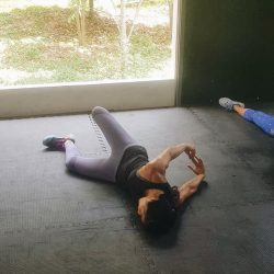 I love to stretch my body after workout