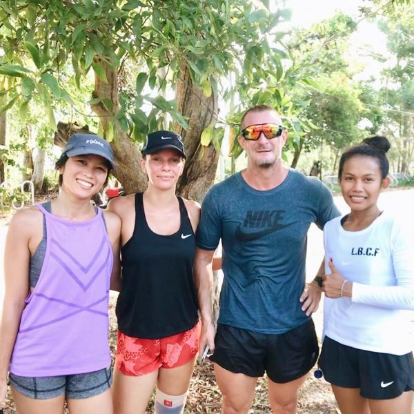 Running club day1: Morning practice running with coach Billy. @lamaifitness  It was really good.  Thank you so much for teaching us a lesson today. 🏃🏻♀️ 🏃 . . . . . #runningjourney