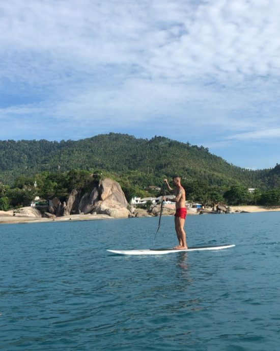 Enjoying our morning paddle  #perfectday #beachlife #islandlife #happyislanders #lifeisgreat #kohsamui #thailand #SUP  #standuppaddleboarding #paddleboard