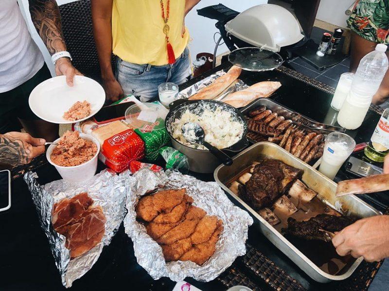 Fun Saturday with my friends , June 28, 2019.. train hard, eat harder🏋🏻♀️🥰