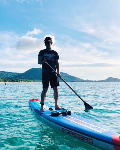 Morning paddle . . . . . . . .  #perfectday #beachlife #islandlife #happyislanders #lifeisgreat #kohsamui #thailand #SUP  #standuppaddleboarding #paddleboard