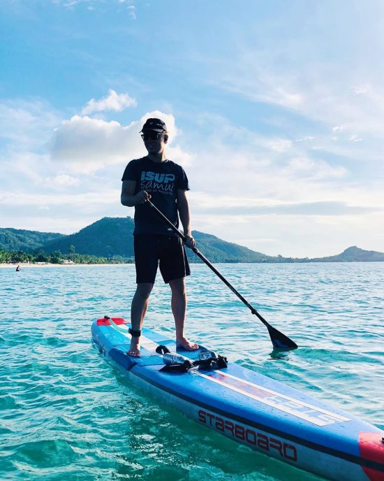 Morning paddle . . . . . . . .  #perfectday #beachlife #islandlife #happyislanders #lifeisgreat #kohsamui #thailand #SUP  #standuppaddleboarding #paddleboard