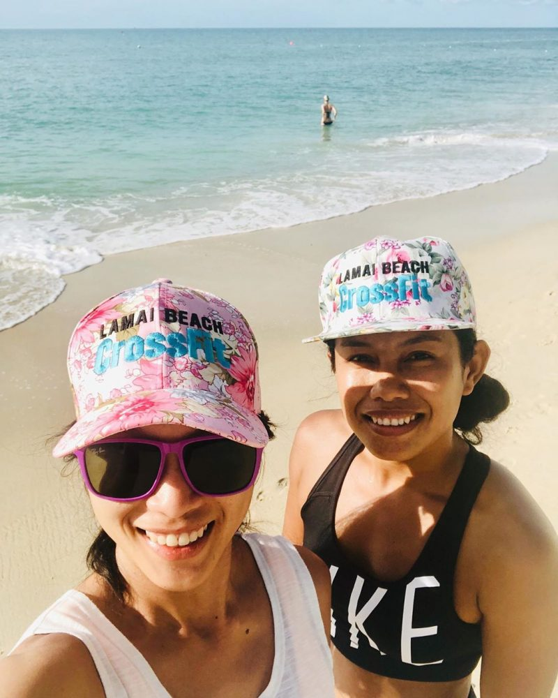 We just finished our Saturday morning beach workout! So happy with our new hats. 🥰🥰🥰🥰 . . . . #crossfitdiary #fitness #crossfit #lamaibeachcrossfit #samui #thailand #crossfitsamui #getfitwithme #funworkout #stronggroup #workoutmotivation #workoutinspiration #crossfitcouple #goodvibes #crossfitnearbeach  #crossfitthailand #thailandcrossfit #crossfiteverydamnday  #crossfitters  #crossfitbeach