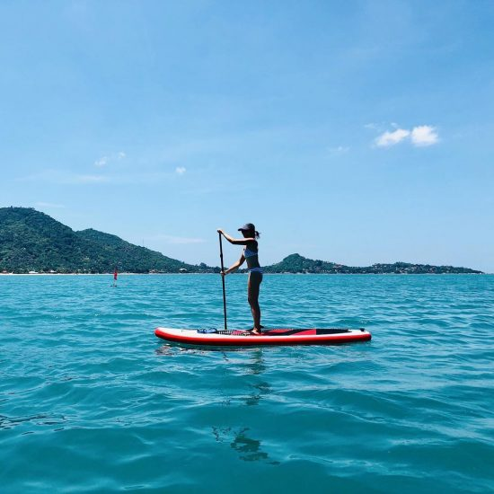 Perfect weather! Saturday paddle with my friends at Baobab in Lamai . . . . . . . .  #perfectday #beachlife #islandlife #happyislanders #lifeisgreat #kohsamui #thailand #SUP  #standuppaddleboarding #paddleboard