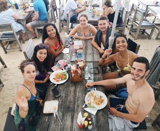After CrossFit, we spent our time at Baobab on the beach- playing exploding kittens, paddle boarding, chatting and eating together.