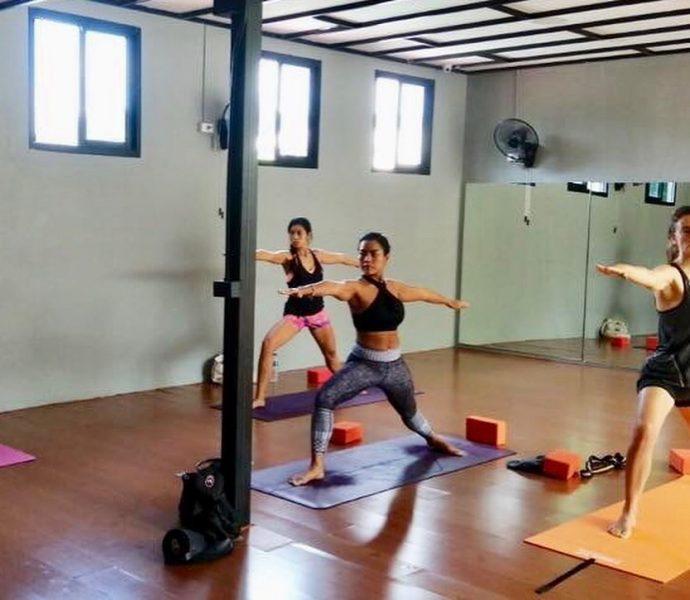 #throwback last Saturday I went to hatha yoga class with my friend in Phuket. . . . . . . . .  #yogajournal #yoganote #yogilife #yoga #yogainspiration #yogaeverydamnday #yogamotivation #yogabuddies