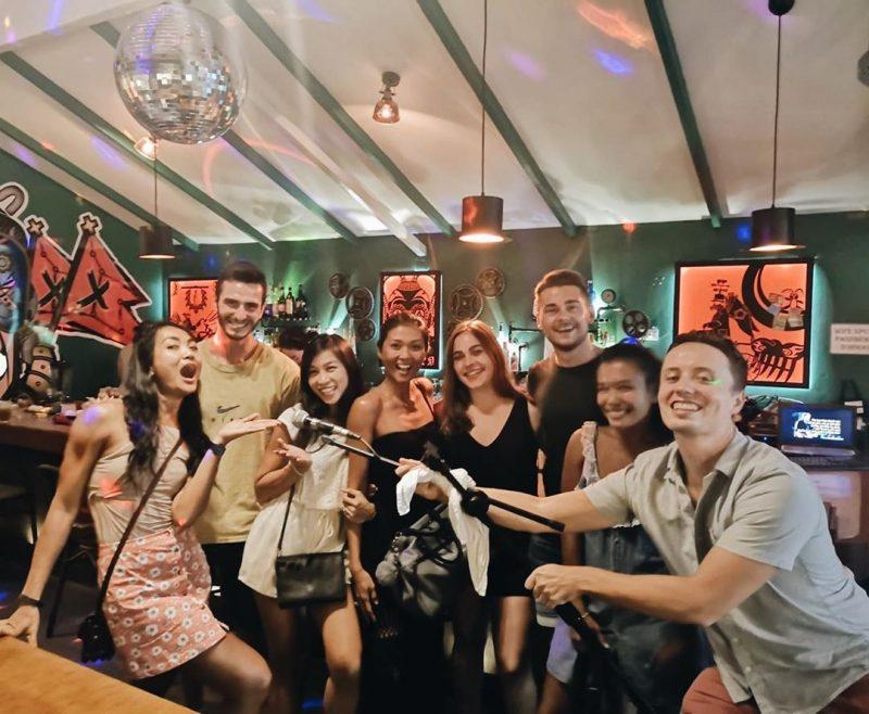 Throwback last Saturday, karaoke night with my friends! Work hard, train hard and play hard!