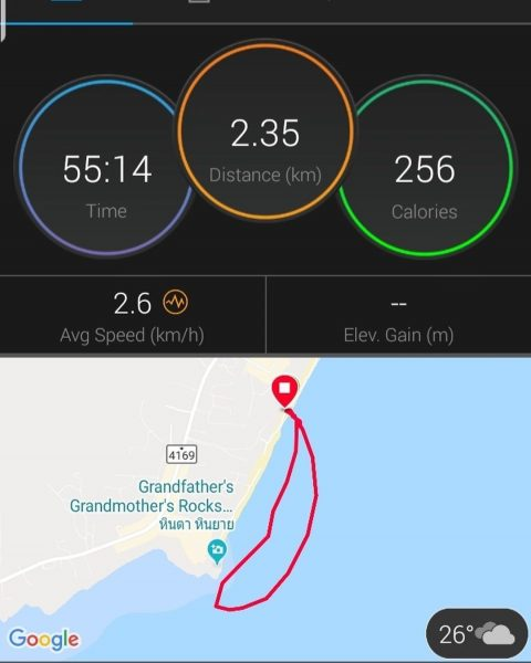 Morning 2.35 km SUP with Samui Fitness Retreat crew from Baobab to Hin Ta Hin Yai and back. . . . .  #perfectday #beachlife #islandlife #happyislanders #lifeisgreat #kohsamui #thailand #SUP  #standuppaddleboarding #paddleboard