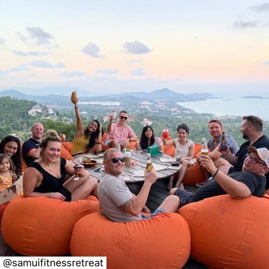 #repost @samuifitnessretreat Welcome Drinks for our retreat clients